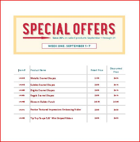 Special Offer 9-1-16